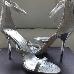 Vince Camuto Snakeskin Stiletto Sandal -NEW